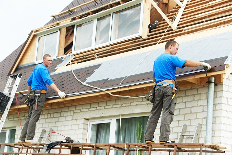 roofing work with 2 contractors