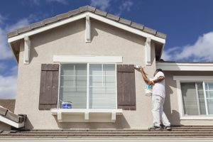 painting trim and shutters of home